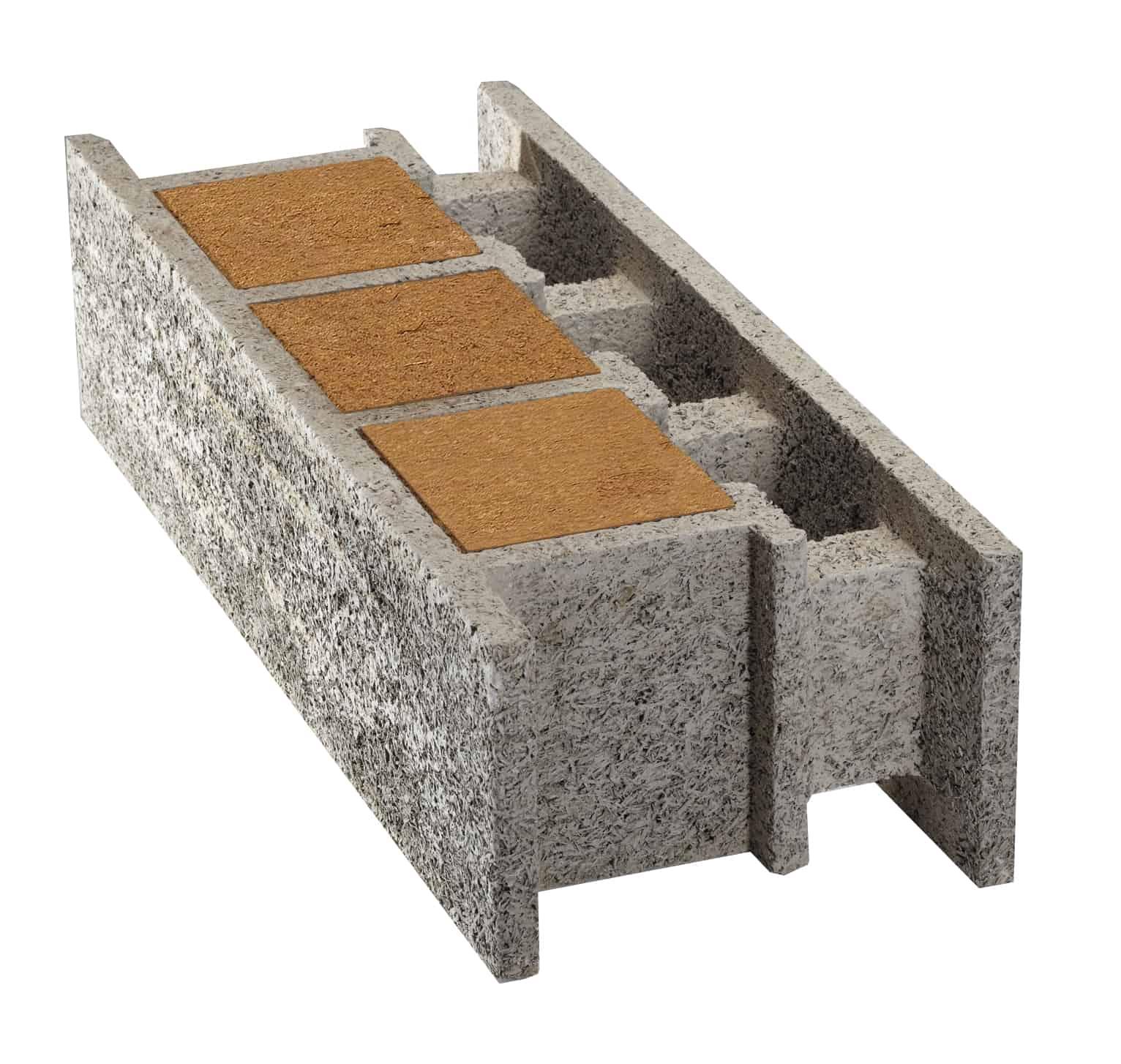 bloc de coffrage thermibloc avec isolant laine de bois - thermibloc