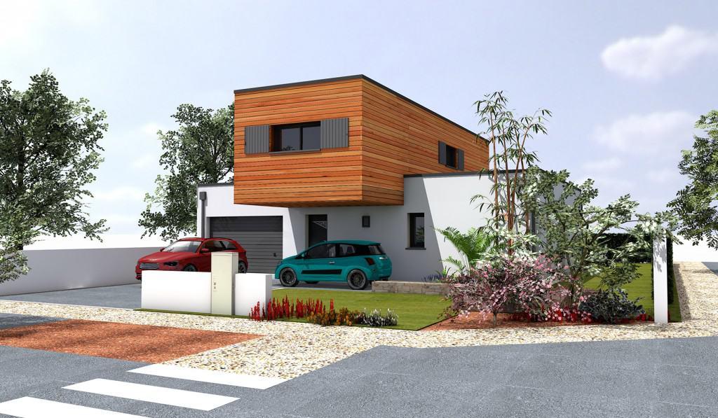 Construction d'une maison passive près des Herbiers avec le bloc Thermibloc et l'entreprise CMBB