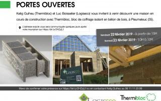 Thermibloc et Logiseco vous invitent à la porte ouverte d'une maison en cours de construction à Pleumeleuc